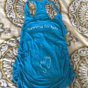 Running for Two maternity tank top women's large
